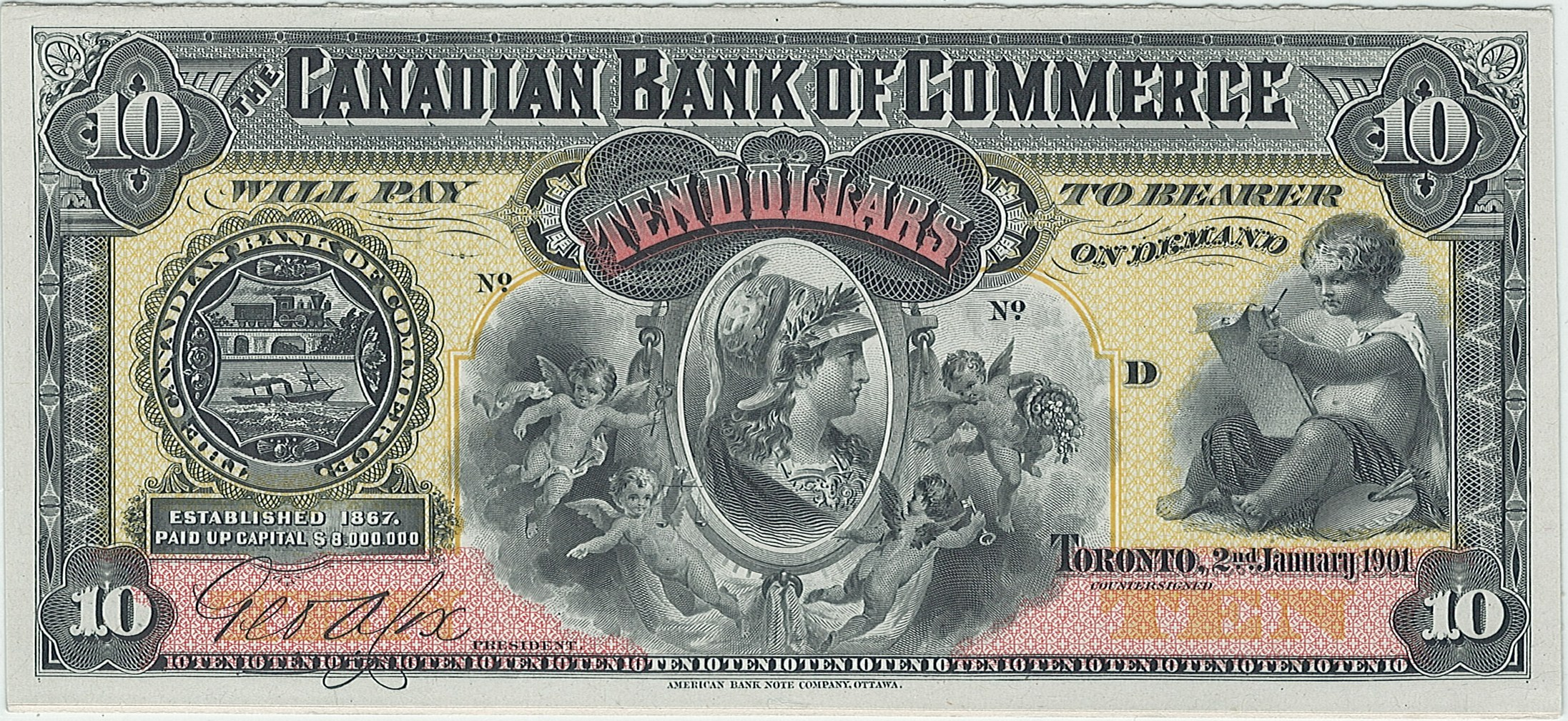 Canadian Bank of Commerce, 10$, Канада, 1901 г.
