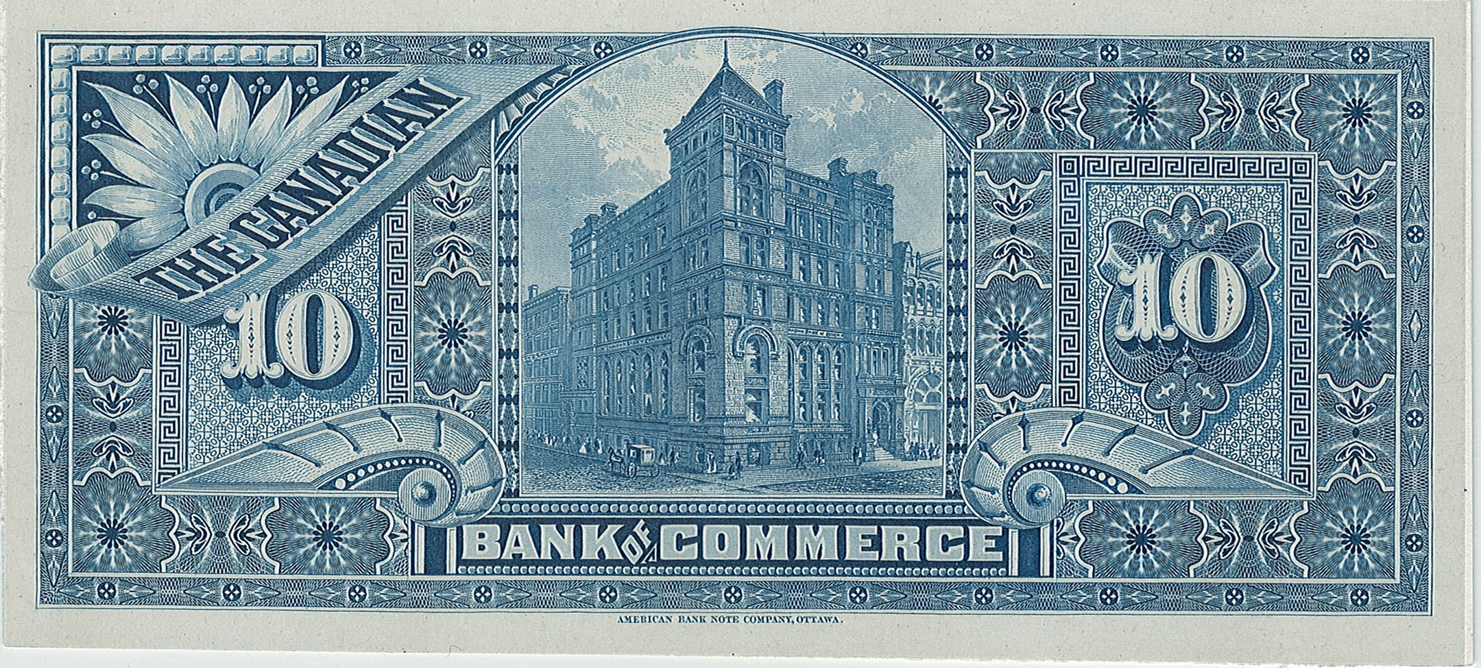 Canadian Bank of Commerce, 10$, Канада, 1888-1912 г.г.